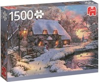 Winter Cottage Puzzel (1500 stukjes)