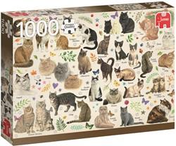 Katten Poster Puzzel (1000 stukjes)