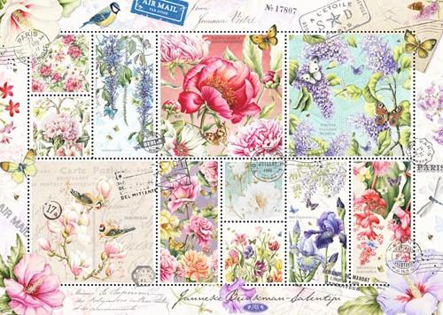 Flower Stamps Puzzel (1000 stukjes)-2
