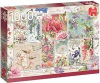 Flower Stamps Puzzel (1000 stukjes)-1