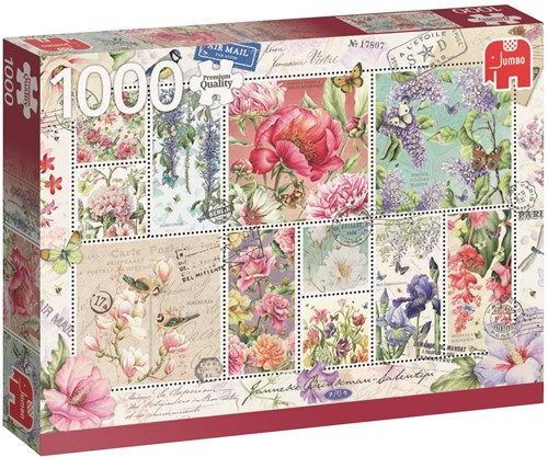 Flower Stamps Puzzel (1000 stukjes)