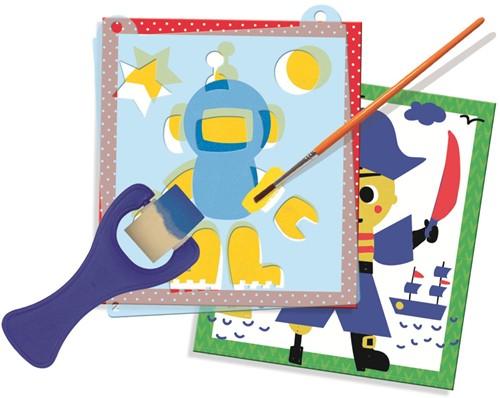 Dessineo Color - Schilderen met Sjablonen Personages