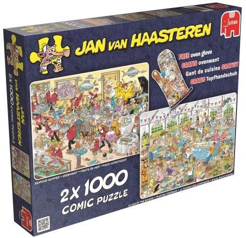 Jan van Haasteren - Eet- en Bakfestijn Puzzel 2 in 1-1