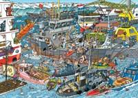 Jan van Haasteren - Zeehaven Puzzel (500 stukjes)