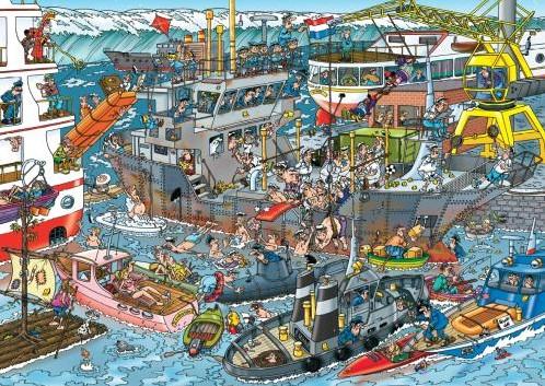 Jan van Haasteren - Zeehaven Puzzel (500 stukjes)-2