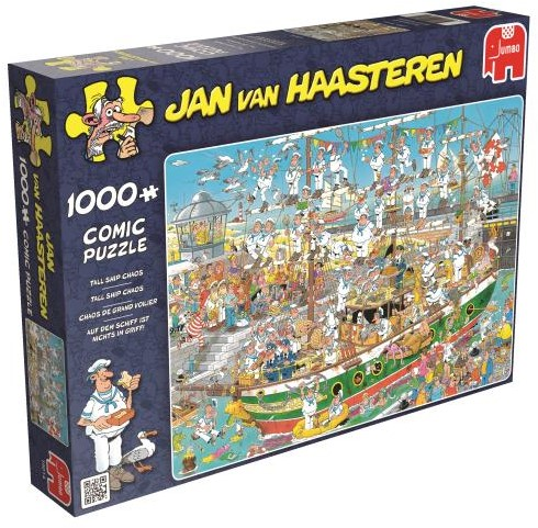 Jan van Haasteren - Tall Ship Chaos Puzzel (1000 stukjes)
