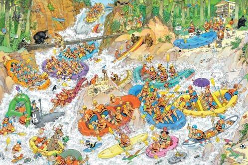 Jan van Haasteren - Wild Water Rafting Puzzel (1500 stukjes)-2