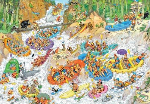 Jan van Haasteren - Wild Water Rafting Puzzel (3000 stukjes)-2
