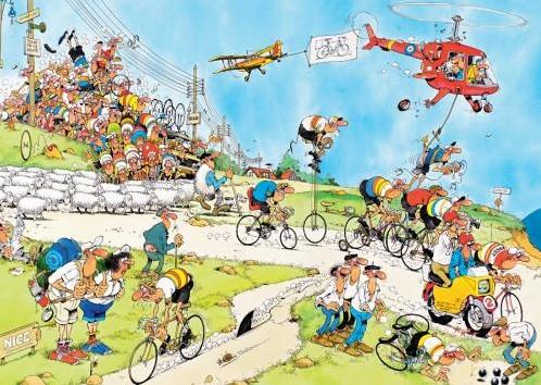 Jan van Haasteren - Tour de France Puzzel 3 in 1-3