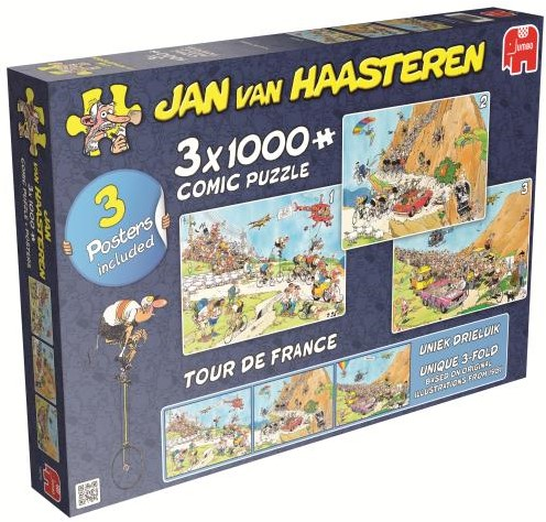 Jan van Haasteren - Tour de France Puzzel 3 in 1-1