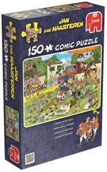 Jan van Haasteren - Chaos op het Veld Puzzel (150 stukjes)