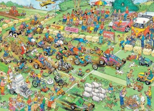 Jan van Haasteren - Grasmaaierrace Puzzel (2000 stukjes)-2