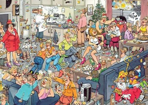 Jan van Haasteren - Fijne Feestdagen Puzzel 2 in 1-2