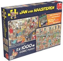 Jan van Haasteren - Fijne Feestdagen Puzzel 2 in 1