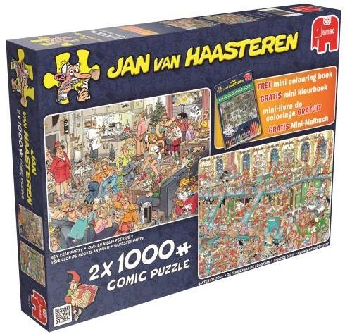 Jan van Haasteren - Fijne Feestdagen Puzzel 2 in 1-1