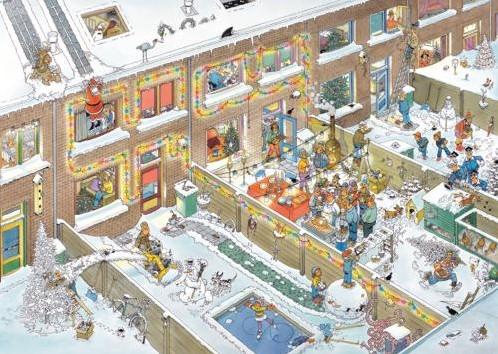Jan van Haasteren - Kerstavond Puzzel (1000 stukjes)-2