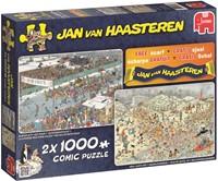 Jan van Haasteren - 2 in 1 Winter Puzzel + Sjaal