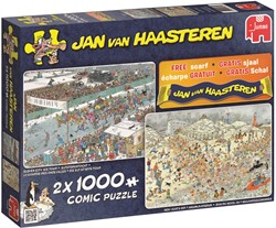 Jan van Haasteren - 2 in 1 Winter Puzzel + Sjaal
