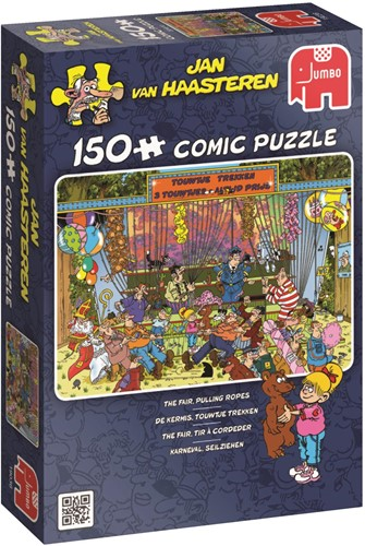 Jan van Haasteren - Kermis, Touwtje Trekken Puzzel (150 stukjes)-1
