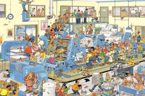 Jan van Haasteren - De Drukkerij Puzzel (1500 stukjes)-2
