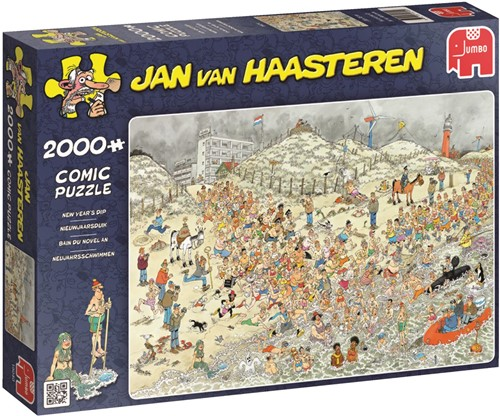 Jan van Haasteren - Nieuwjaarsduik Puzzel (2000 stukjes)-1
