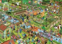 Jan van Haasteren - De Volkstuintjes Puzzel (1000 stukjes)-2