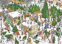 Jan van Haasteren - Kerstdiner + Kerstbomenmarkt Puzzel-2