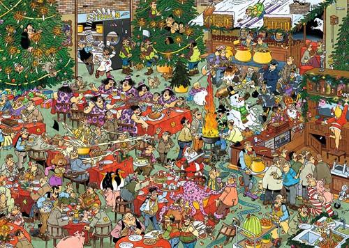 Jan van Haasteren - Kerstdiner + Kerstbomenmarkt Puzzel-3