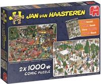 Jan van Haasteren - Kerst + Gratis Zoekboek (2x 1000 stukjes)-1