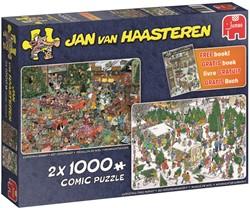 Jan van Haasteren - Kerstcadeautjes + Gratis Zoekboek (2x 1000 stukjes)