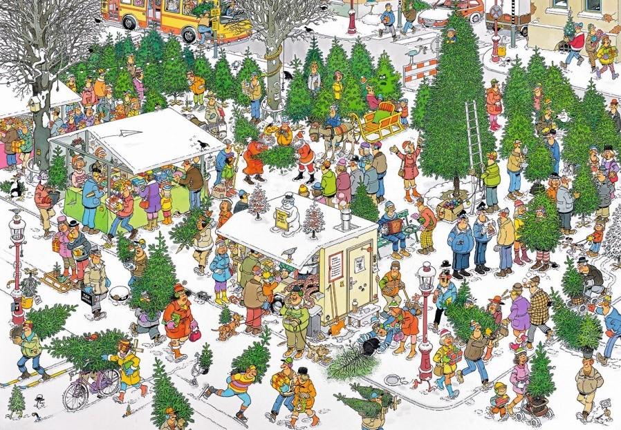 Jan van Haasteren - The Christmas Tree Market Puzzel (2000 ...