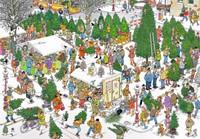 Jan van Haasteren - The Christmas Tree Market Puzzel (2000 stukjes)-2