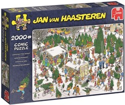 Jan van Haasteren - The Christmas Tree Market Puzzel (2000 stukjes)