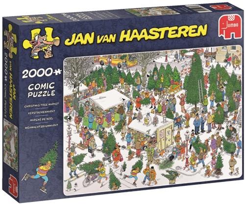 Jan van Haasteren - The Christmas Tree Market Puzzel (2000 stukjes)