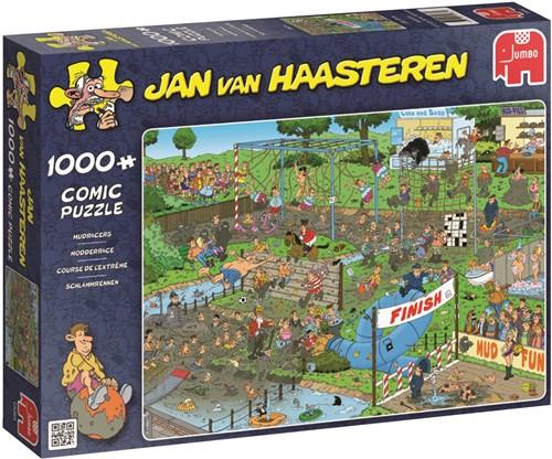 Jan van Haasteren - Modderrace Puzzel (1000 stukjes)