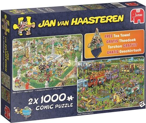 Jan van Haasteren - Foodfestival Puzzel (2x 1000 stukjes)