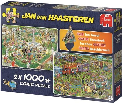 Jan van Haasteren - Foodfestival Puzzel (2x 1000 stukjes)-2