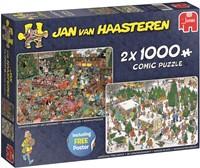 Jan van Haasteren - Kerstdiner + Kerstbomenmarkt Puzzel