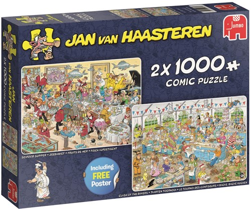 Jan van Haasteren - Eet- en Bakfestijn Puzzel (2x1000)