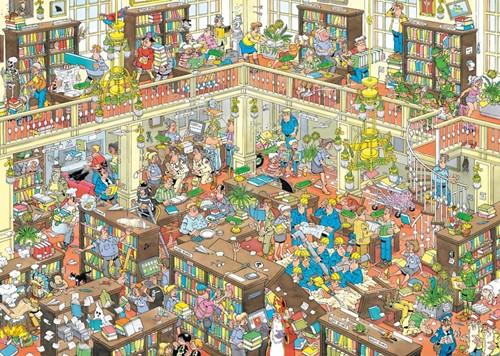 Jan van Haasteren - De Bibliotheek Puzzel (1000 stukjes)-2