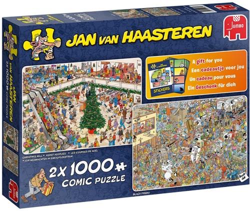 Jan van Haasteren - Holiday Shopping Puzzel (2x1000 stukjes)