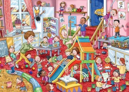 Wasgij Mystery Puzzel 11 - Kinderopvang (1000 stukjes)-2