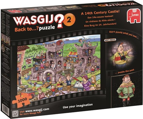 Wasgij Back To.. Puzzel 2 - Een 14e-Eeuws Kasteel (1000 stukjes)-1