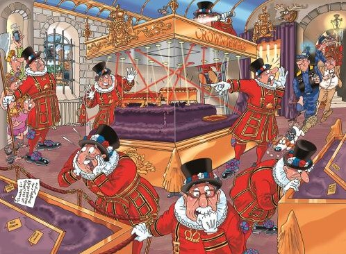 Wasgij Mystery Puzzel 12 - De Onverwachte Verdachten (1000 stukjes)-2