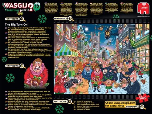 Wasgij Christmas Puzzel 12 - The Big Turn On (2x1000)-3