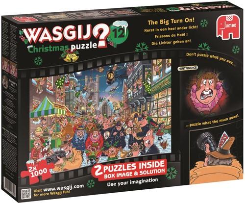 Wasgij Christmas Puzzel 12 - The Big Turn On (2x1000)-1