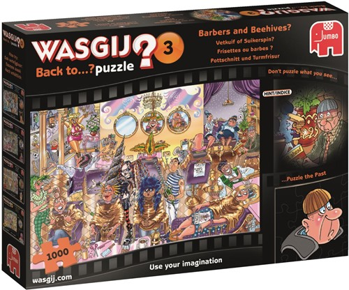 Wasgij Back To.. Puzzel 3 - Vetkuif of Suikerspin (1000 stukjes)