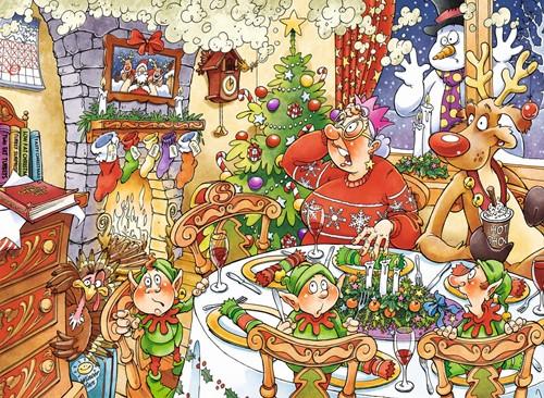 Wasgij Christmas Puzzel 13 - Geluksvogel (2x1000 stukjes)-2