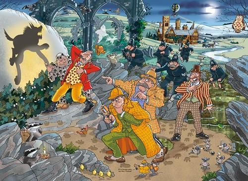Wasgij Mystery 14 - De Jachthond van Wasgijdorp Puzzel (1000 stukjes)-2