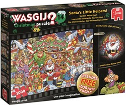 Wasgij Christmas 14 - Santa's Helpertjes Puzzel (1000 stukjes)